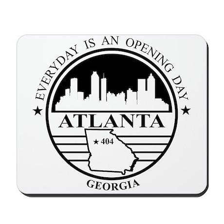 Atlanta logo white and black Mousepad