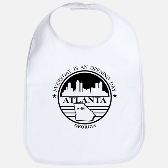 Atlanta logo white and black Bib