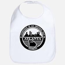 Atlanta logo black and white Bib