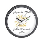 Peace on Earth Dove Wall Clock