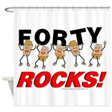 Forty Rocks Shower Curtain