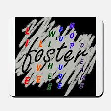 foster... black/silver Mousepad