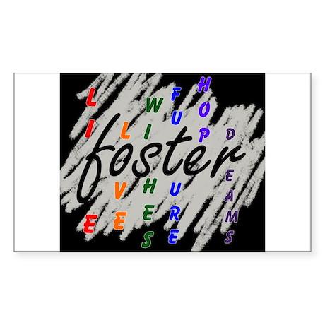 foster... black/silver Sticker