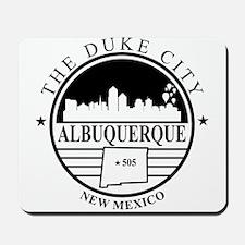 Albuquerque logo white and black Mousepad