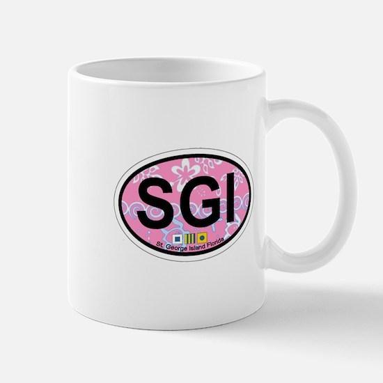 St George Island - Oval Design. Mug