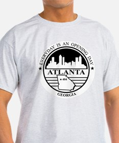 Atlanta logo white and black T-Shirt