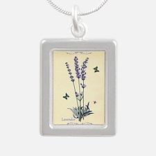 Lavender Silver Portrait Necklace