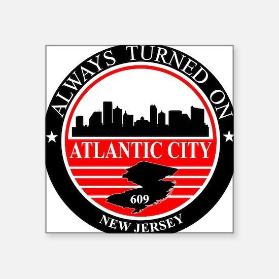 Atlantic City logo black and red Sticker