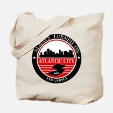 Atlantic City logo black and red Tote Bag