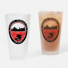 Atlantic City logo black and red Drinking Glass