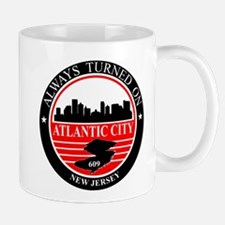 Atlantic City logo black and red Mug