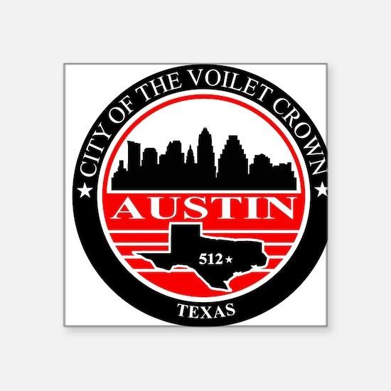 Austin logo black and red Sticker