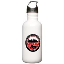 Austin logo black and red Water Bottle