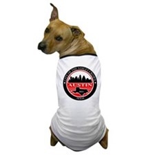 Austin logo black and red Dog T-Shirt