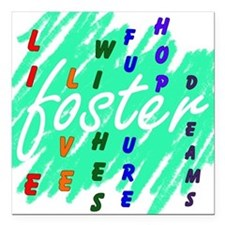 """foster... Square Car Magnet 3"""" x 3"""""""