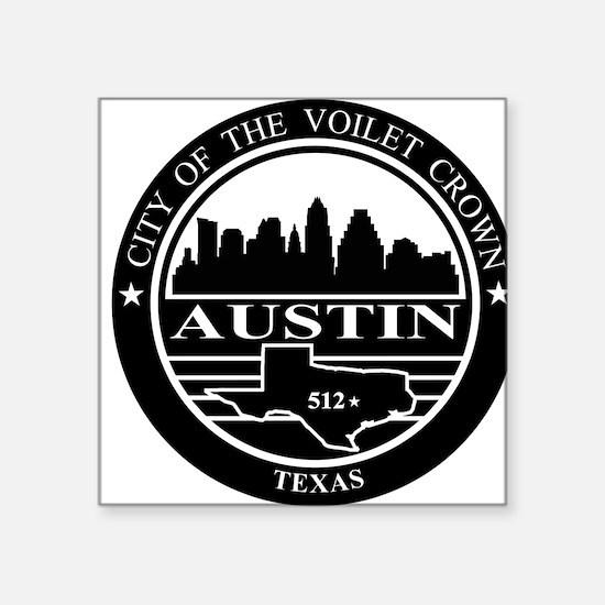 Austin logo black and white Sticker