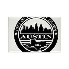 Austin logo black and white Rectangle Magnet