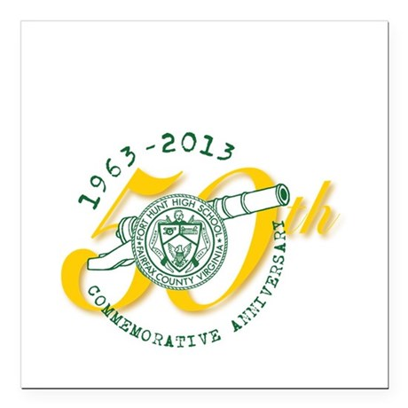 "FHHS 50th Reunion Square Car Magnet 3"" x 3"""