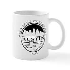 Austin logo white and black Mug