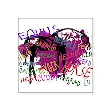 The Multilingual Horse Sticker