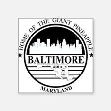 Baltimore logo white and black Sticker