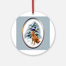 Irish Terrier Christmas Ornament (Round)