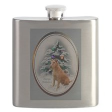 Irish Terrier Christmas Flask