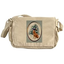 Irish Terrier Christmas Messenger Bag