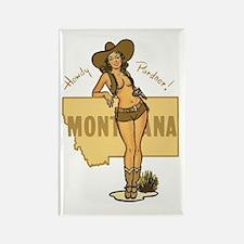 Vintage Montana Pinup Rectangle Magnet