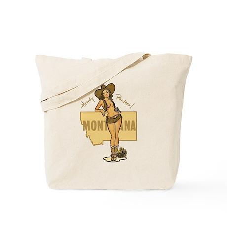 Vintage Montana Pinup Tote Bag