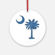 Vintage South Carolina Flag Ornament (Round)
