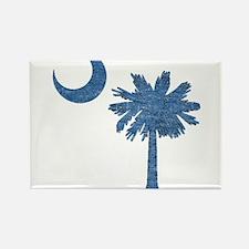 Vintage South Carolina Flag Rectangle Magnet