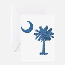 Vintage South Carolina Flag Greeting Card