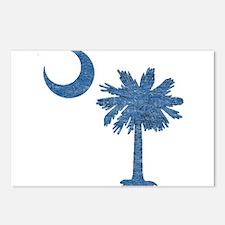 Vintage South Carolina Flag Postcards (Package of