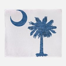 Vintage South Carolina Flag Throw Blanket