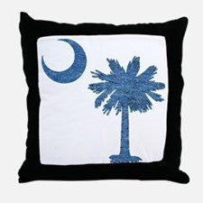 Vintage South Carolina Flag Throw Pillow