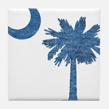 Vintage South Carolina Flag Tile Coaster