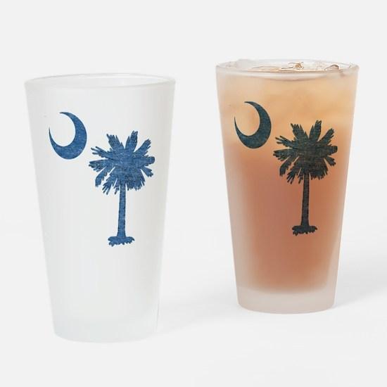Vintage South Carolina Flag Drinking Glass