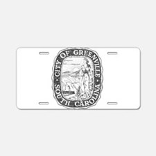 Faded Greenville South Carolina Aluminum License P