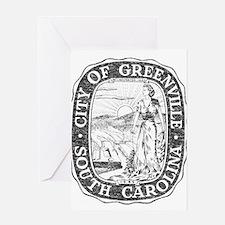 Faded Greenville South Carolina Greeting Card