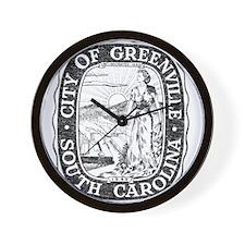 Faded Greenville South Carolina Wall Clock