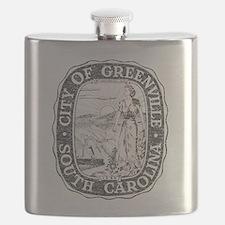 Faded Greenville South Carolina Flask