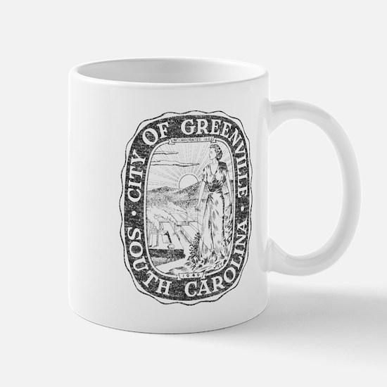 Faded Greenville South Carolina Mug