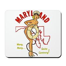 Vintage Maryland Pinup Mousepad