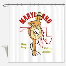 Vintage Maryland Pinup Shower Curtain