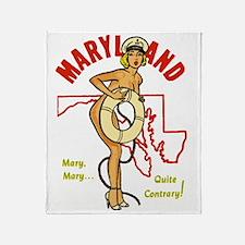 Vintage Maryland Pinup Throw Blanket