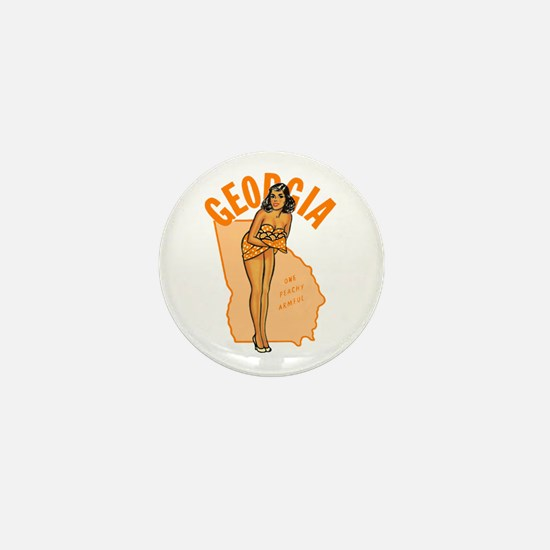 Vintage Georgia Pinup Mini Button