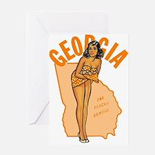 Vintage Georgia Pinup Greeting Card