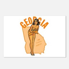 Vintage Georgia Pinup Postcards (Package of 8)