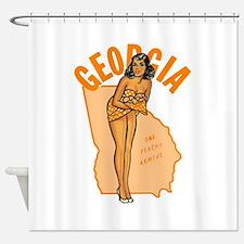 Vintage Georgia Pinup Shower Curtain